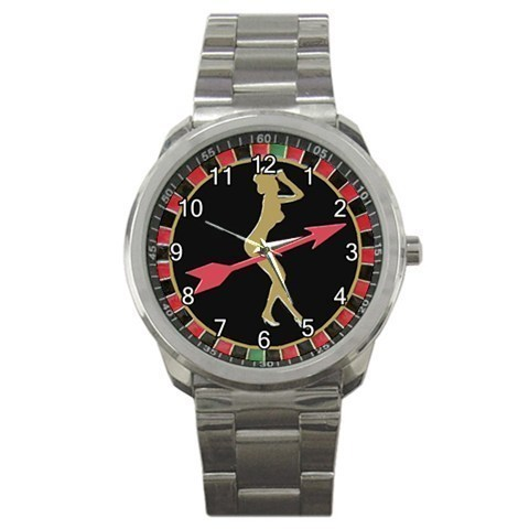 Lady Roulette Casino Game Sport Metal Watch Gift model 32718257
