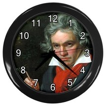 Ludwig Van Beethoven Decorative Wall Clock (Black) Gift mode 33222244 - $18.99