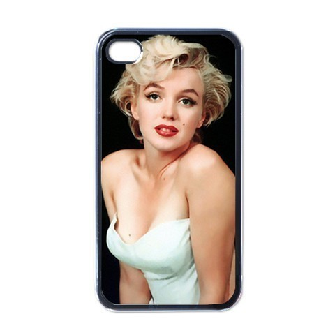 NEW iPhone 4 Hard Black Case Cover Beautiful Marilyn Monroe Gift 32625211