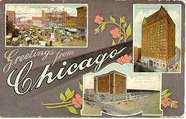 Chicago Illinois 1911 Multi View Post Card - $6.00