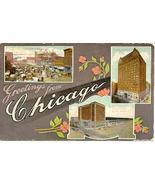Chicago Illinois 1911 Multi View Post Card - $6.00