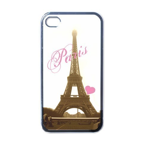 NEW iPhone 4 Hard Black Case Cover Eiffel Tower Paris  Gift 32825116