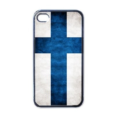 NEW iPhone 4 Hard Black Case Cover Finland Grunge Flag  Gift 32855389