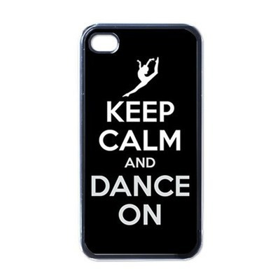 NEW iPhone 4 Hard Black Case Cover Keep Calm And Dance On Gift 32827409