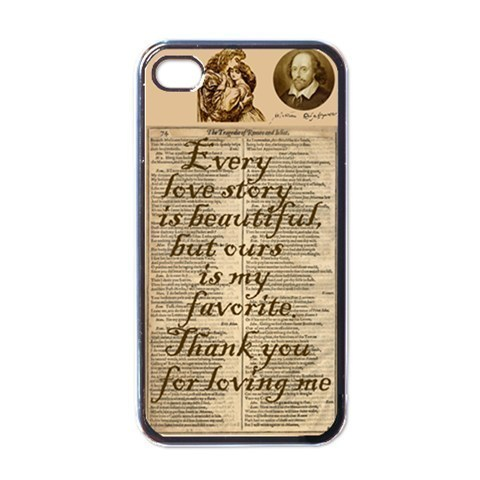 NEW iPhone 4 Hard Black Case Cover Love Story Gift 32822313