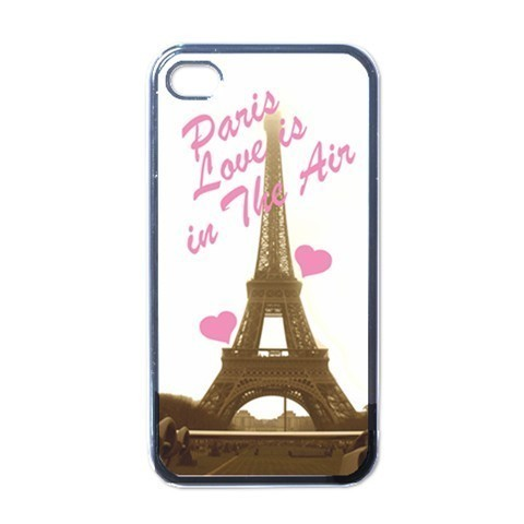 NEW iPhone 4 Hard Black Case Cover Paris Love Eiffel Tower Gift 32826900