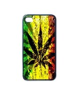 NEW iPhone 4 Hard Black Case Cover Rasta Reggae Weed Smoke Gift 32854759 - $17.99