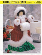 Christmas Holiday Tissue Cover, Annies Plastic Canvas Pattern Leaflet PL... - $2.95