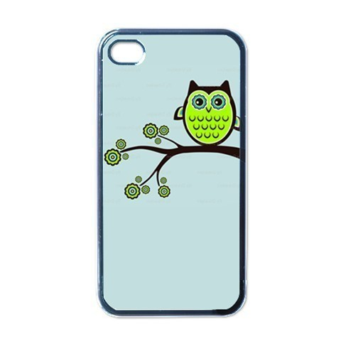NEW iPhone 4 Hard Black Case Cover Retro Owl Graphic Gift 32096521