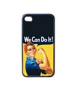 NEW iPhone 4 Hard Black Case Cover Rosie The Riveter Gift 32827135 - $17.99