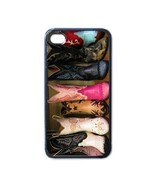 NEW iPhone 4 Hard Black Case Cover Rubber Cowboy Boots Gift 32822452 - $17.99