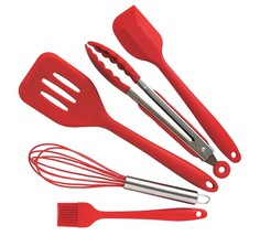 Cute Kitchen Utensils And Gadgets Silicone 5pc Cooking Turner Spatula To... - $27.35