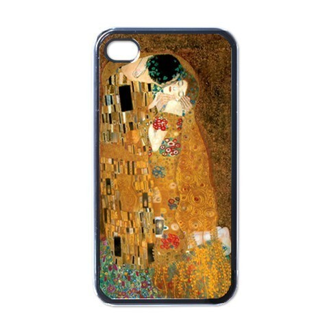 NEW iPhone 4 Hard Black Case Cover The Kiss Gustav Klimt Gift 32826737