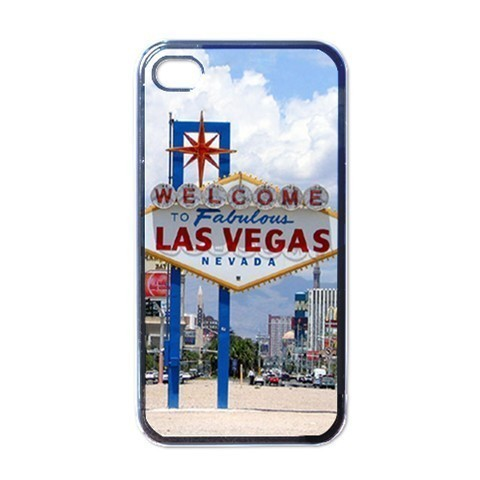 NEW iPhone 4 Hard Black Case Cover Welcome To Las Vegas Sign Gift 32097580