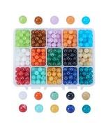 PH PandaHall 1 Box About 450 pcs 15 Color 8mm Round Imitation Gemstone A... - $20.46