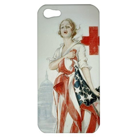 NEW iPhone 5 Hard Shell Case Cover American Red Cross Gift model 34808285