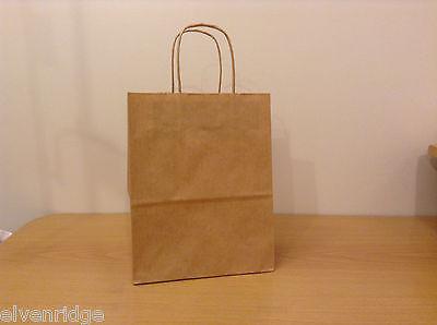 Lot of 150 plus  Brown Shopper Craft Bags 8x10x4 Cub Uline, New unused