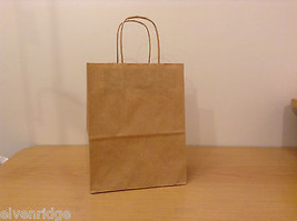 Lot of 150 plus  Brown Shopper Craft Bags 8x10x4 Cub Uline, New unused