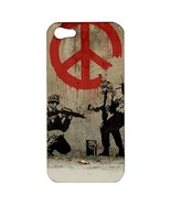 NEW iPhone 5 Hard Shell Case Cover Banksy Painting Peace Sign on Wall 33... - $19.99