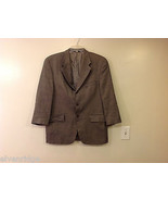 Chaps Ralph Lauren Men's Size 42 R Blazer Jacket Silk-Wool Brown Herring... - $44.54
