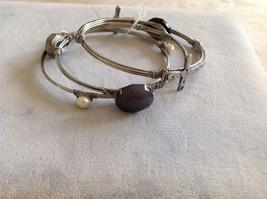 New Set Of Silver Toned Bracelets Pearls Gem Stones Crosses