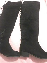 Soda Women Size 11 Black Knee High Suede Boots With Box - $30.67