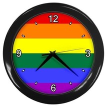 Rainbow Flag Decorative Wall Clock (Black) Gift model 16469712 - $18.99