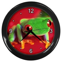 Red Eyed Tree Frog Decorative Wall Clock (Black) Gift model 14564743 - $18.99