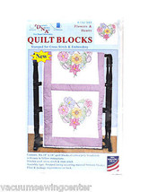 Jack Dempsey Flowers and Hearts Quilt Blocks - $14.65