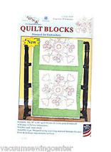 Jack Dempsey Fiesta Flowers Quilt Blocks - $14.65