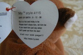 "Rare Ty Original Beanie Babies "" Sly "" The Fox - Retired Errors Mint Condition image 9"