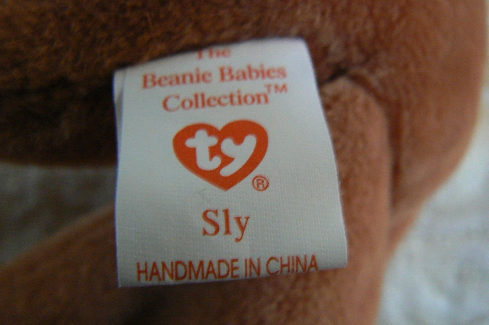 "Rare Ty Original Beanie Babies "" Sly "" The Fox - Retired Errors Mint Condition image 7"