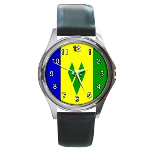 St. Vincent Flag Unisex Round Metal Watch Gift model 16381586
