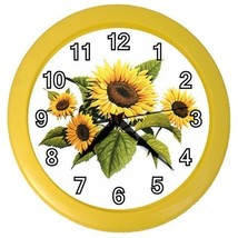 Sunflowers Flowers Decorative Wall Clock (Yellow) Gift model 32046750 - $18.99