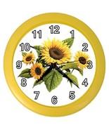 Sunflowers Flowers Decorative Wall Clock (Yellow) Gift model 32046750 - $18.99