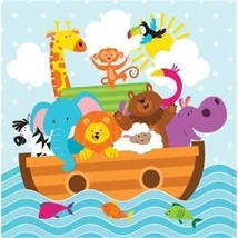 Noah's Ark Lunch Napkins 18 Per Pack - £2.48 GBP