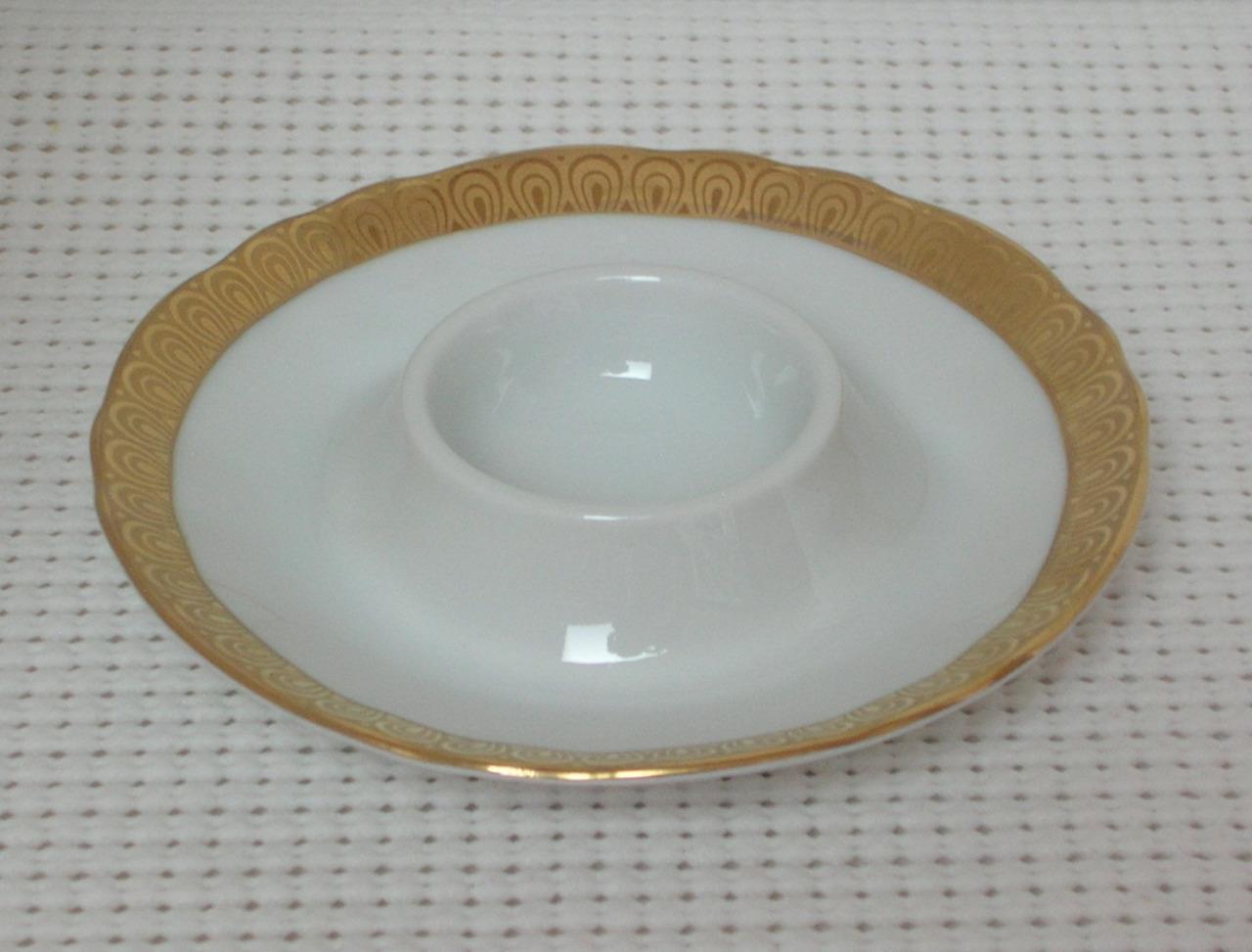 WINTERLING BAVARIA FLAT SINGLE EGG CUP Bone China MARKTLEUTHEN Germany Gold - $6.97