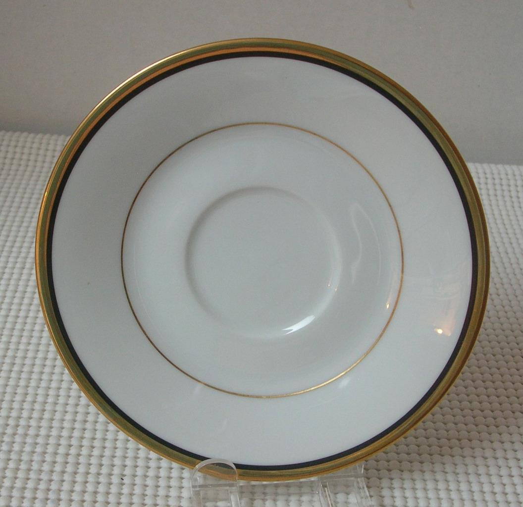 Primary image for Noritake ELYSEE REPLACEMENT SAUCER Bone China Pattern 6914 Japan Gold Black Trim