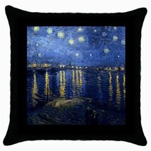 Throw Pillow Case Cushion Cover Van Gogh Starry Night Over The Rhone 303... - $16.99