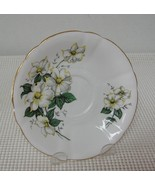 REPLACEMENT SAUCER Windsor Bone China CANADIAN DOGWOOD Made in England - $5.08