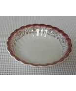 MANDARIN MAROON Sebring Pottery FRUIT DESSERT NAPPY BOWL K-S 384 22K Trim - $4.06