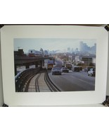 SKYTRAIN TO VANCOUVER 1986 by ALAN WYLIE Signed by Artist Lithograph Art... - $33.94