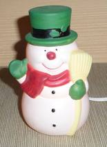 Electric Snowman Lamp, Cord Has On/Off Switch - $25.00