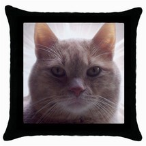 Throw Pillow Case Decorative Cushion Cover Curious Cat Pet Gift model 30... - £12.71 GBP