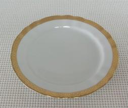 WINTERLING BAVARIA SALAD PLATE  Bone China MARKTLEUTHEN Germany Gold DES... - $5.81