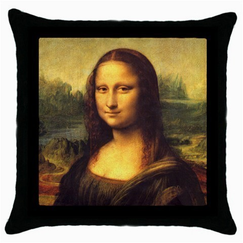 Throw Pillow Case Decorative Cushion Cover Leonardo Da Vinci Mona Lisa 33382771