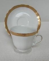 WINTERLING BAVARIA CUP & SAUCER  Bone China MARKTLEUTHEN Germany Gold Trim - $8.72