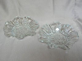 2 Vintage CLEAR Pressed Glass CANDY NUT SERVING... - $29.09