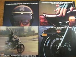 1983 Harley Davidson Brochure Lot (4) Electra Super Glide Sportster Poli... - $22.55