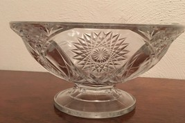 Vintage Clear Crystal Press Glass Pedestal Style Candy/ Nut/ Dish Bowl - $3.75